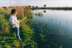 Young boy fishing  Royalty Free Stock Photos