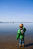 Young boy at Fishing Lake Stock Photo