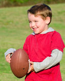 Young boy with football Stock Images
