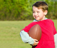 Young boy with football Royalty Free Stock Photography