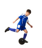 A young boy football player Stock Photography