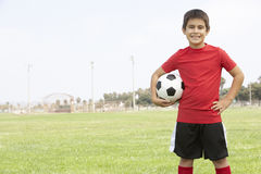 Young Boy In Football Team Stock Images