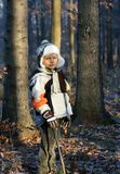 Young Boy in a Forest Stock Images