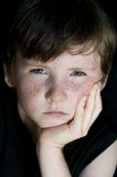 Young boy with freckle Royalty Free Stock Image
