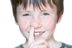 Young boy with freckle Stock Photo