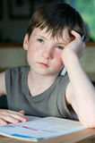 Young boy with freckle Royalty Free Stock Images