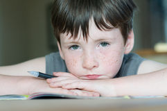 Young boy with freckle Stock Images