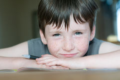 Young boy with freckle Stock Photography