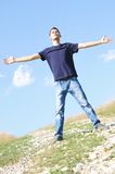 Young boy freedom Stock Images