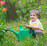 Young Boy In The Garden Stock Photos