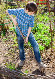 Young boy gardening Royalty Free Stock Photography
