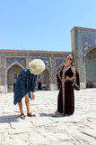 Young boy and gir in Samarkand Stock Image