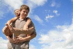 Young boy and girl Royalty Free Stock Images