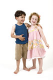Young boy and girl Stock Photography