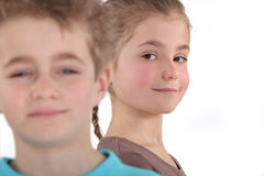 Young boy and girl Royalty Free Stock Photo