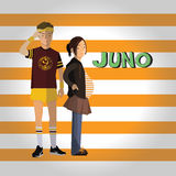 Young boy and girl icon great for any use. Vector EPS10. Royalty Free Stock Image