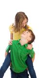 Young boy and girl playing Stock Photography
