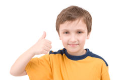 Young boy giving a thumbs up Stock Photo