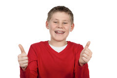Young boy giving you thumbs up Stock Photo