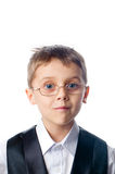 A young boy in glasses Stock Images