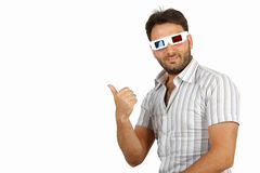 Boy with 3D glasses Stock Image