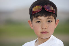 Young boy with goggles. Royalty Free Stock Photography