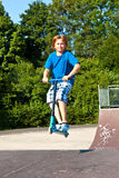 Young boy going airborne Royalty Free Stock Photography