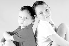 Young boy and gril Royalty Free Stock Images