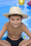 Young boy with  hat Royalty Free Stock Image