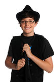 Young Boy With Hat and Tie Stock Images