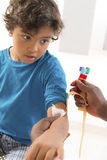 Young boy Having Blood Test Royalty Free Stock Images