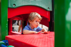 Young boy having fun in the park Stock Photography