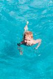 Young boy having fun in swimming pool Royalty Free Stock Images