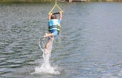 Young boy having fun in water Stock Photos