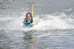 Young boy having fun in water Royalty Free Stock Images