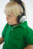 Young Boy with Headphones Stock Images