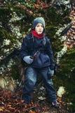 Young boy hiking Stock Photos