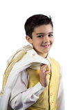 Young boy in his First Communion Royalty Free Stock Photography