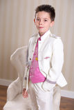 Young boy in his First Holy Communion Stock Photos