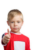Young boy with his thumb up Royalty Free Stock Photo