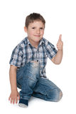 Young boy with his thumb up Stock Photography