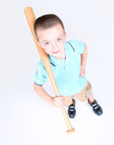 Young boy holding a baseball bat Royalty Free Stock Photo