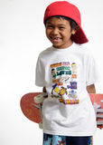 Young boy holding his skateboard Stock Photography