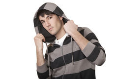 Young boy with hood Royalty Free Stock Photography