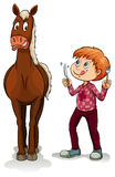 Young boy and a horse Royalty Free Stock Image