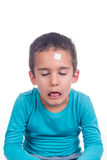 Young boy hurt Stock Images