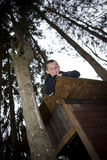Young Boy in a hut Stock Photography