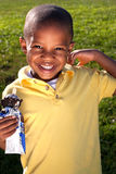Young boy with ice cream Stock Photography