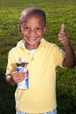 Young boy with ice cream Stock Images