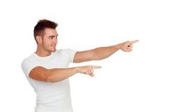 Young boy indicating something Stock Images